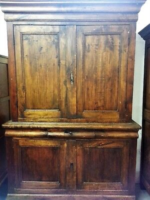 French Antique Dresser Buffet Deux Corps Cupboard Country House Vaisselier