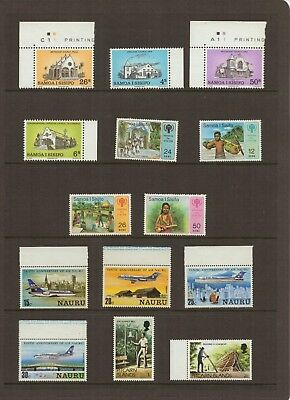 SAMOA, NAURU and PITCAIRN ISLANDS - Selection of MINT UNHINGED STAMPS