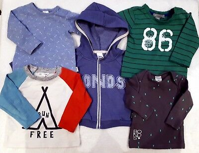 Baby Boy Bundle #2: Hoodie & LS Tees x 4 - Size 00 (Bonds/CountryRoad/PPatch)
