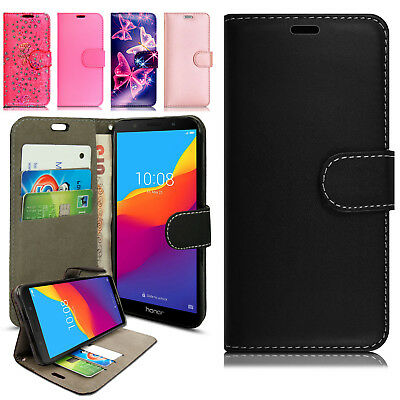 For Vodafone Smart N9 Lite Genuine Black Leather Wallet Series Case Stand Cover