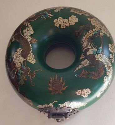Vintage Chinese Round Dragon Necklace Box