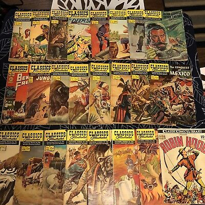 Lot Of Classic Illustrated #2-169 Comic Books Lot Silver Age