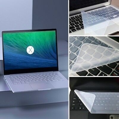 "Clear Universal Silicone Keyboard Protector Skin Cover for PC Laptop 14"" 15"" 17"""
