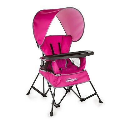 Baby Beach Chair Outdoor Patio Portable Toddler Seat Kids Travel Carry Bag Pink