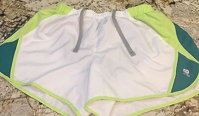 512dd7040f0ad New Balance womens athletic running shorts Green White Small With Lining