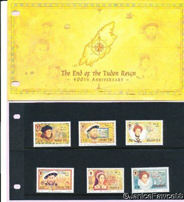 Isle of Man 2003 Presentation Pack - The End of the Tudor Reign