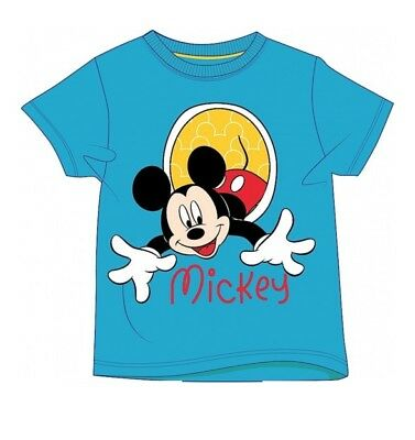 Official Boys Kids Official Disney Mickey Mouse Character T-Shirt Ages 2 - 5 yrs