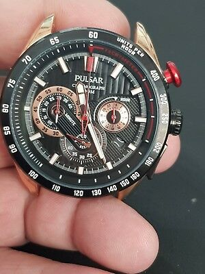/gents Pulsar Chronograph Watch Vk63 Working Untested