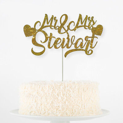 Custom Personalised Die Cut Glitter Birthday Party Cake Topper Name Names Shape