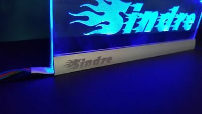 USB 5V 12V 24V Custom LED Name plate Sign Aluminium Blue,Red,Green,White