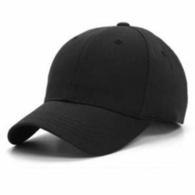 Black 6 Panel Baseball Cap New One Size ONLY £3.49