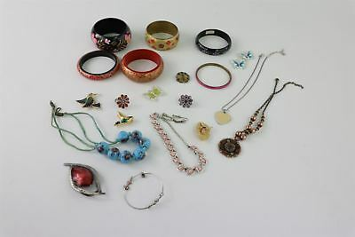 Lot of 20 x Vintage ENAMEL & HAND-PAINTED Mixed Costume Jewellery