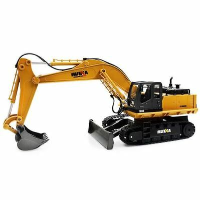 Excavator Toy Remote Control 1:16 HUINA Scale Model 11 Channel Construction New