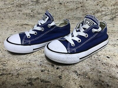 Converse Chuck Taylor All Star Blue Low Top Shoes Boys Girls Kids Toddler Size 8