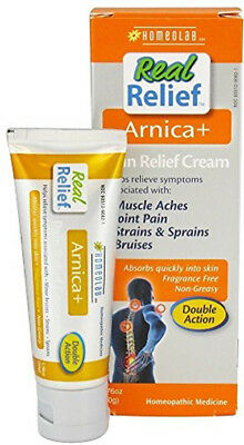 Real Relief Arnica+ Pain Relief Cream, Homeolab USA, 1.76 oz