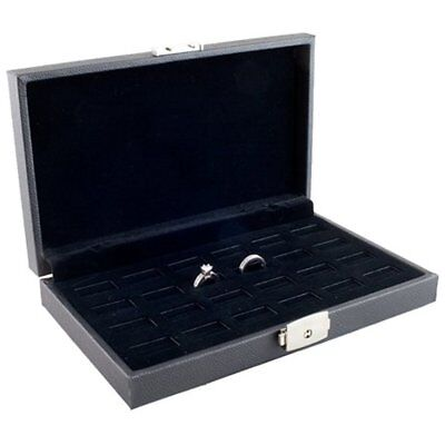 Caddy Bay Collection Wide Slot Jewelry Ring Display Storage Case Holds 24 Rings
