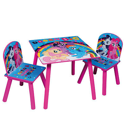 My Little Pony Childrens Wooden Table and Chair Set - Kids Toddlers Childs - NEW