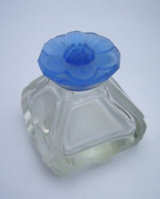 Antique Vintage Original Rare Caron Narcisse Blue Stopper Perfume Bottle Bleu