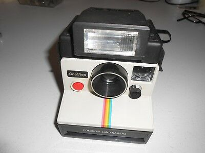 VINTAGE Polaroid LAND CAMERA OneStep  with FOCAL 600 Electronic Flash