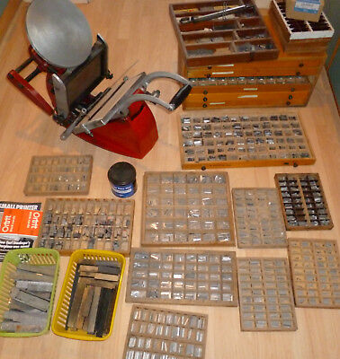 Adana 8X5 Letterpress Printing Machine With Cabinet Plus Lots Of Extras