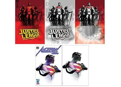 Jock Action Comics 1000 And Justice League 1 Variant Cover Sets.