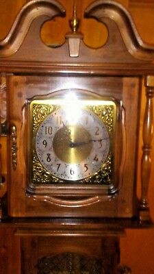 New England Clock Co. Grandfather Clock.  Just Serviced And Running Excellent