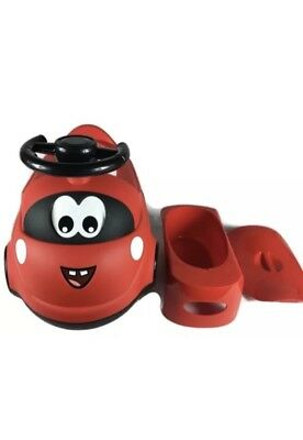 Funny Car Potty Trainer Toilet Training Seat Toddler Baby Kids REMOVABLE BOWL