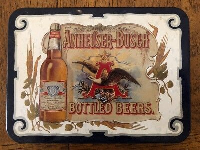 1988 Anheuser Busch Bottled Beer 2 Decks Playing Cards with storage Tin
