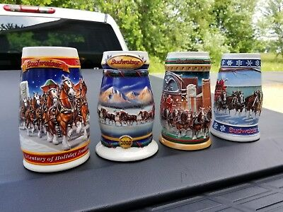 Budweiser Holiday Beer Stein collection