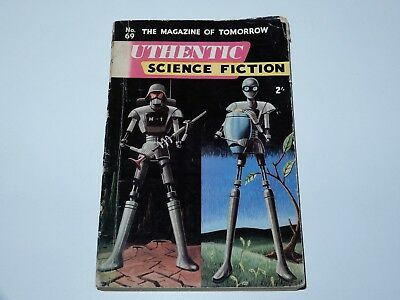 Authentic Science Fiction The Magazine Of Tomorrow No 69 1956 Sci-Fi Sf