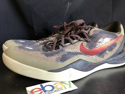9d8d8c37600 2013 Nike Zoom KOBE VIII 8 SYSTEM PYTHON SQUADRON GREEN RED BROWN 555035-300  14
