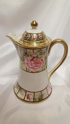 Nippon Imperial Hand Painted Coffee Pot