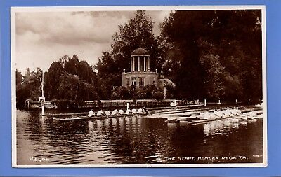 Old Vintage 1949 Rp Postcard The Start Henley Regatta Oxfordshire