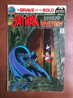 Brave And The Bold #93 (1970) 7.5 VF DC Key Issue Comic Batman House Of Mystery