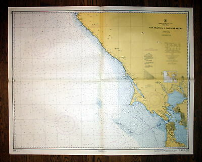1940 United States California San Francisco Point Arena America Amerika map