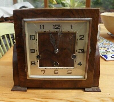 Compact ART DECO Westminster chime mantel clock to restore. SEE VIDEO