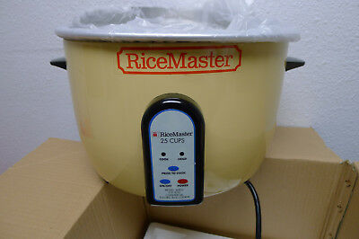RiceMaster 56824 50 Cup (25 Cup Raw) Electric Rice Cooker w/ Steamer Warmer +