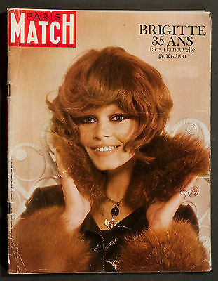 'paris-Match' French Vintage Magazine Brigitte Bardot Cover 25 October 1969