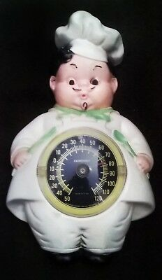 Vintage Kitchen Wall Thermometer Plaster Chef Shape Pittsburgh Statuary Lamp Co.