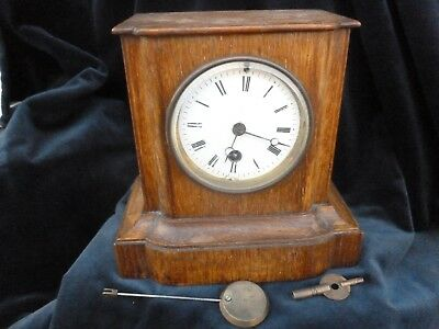 Japy Freres French Mantel Clock  For Spares Or Repair