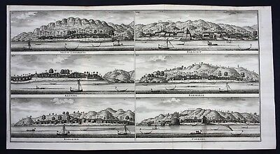 1726 Seram Ambon island Maluku islands Indonesia map engraving Valentijn Asia