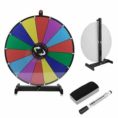 """Voilamart 24"""" 14 Slots Tabletop Colour Dry Erase Prize Wheel Funny Spinning Game"""