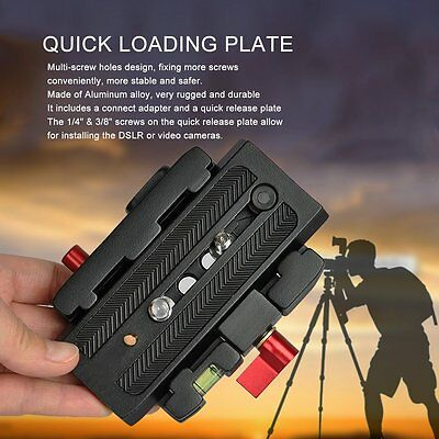 Aluminum alloy Black Quick Release Plate for Tripod Head DSLR Video Camera SU