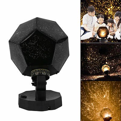 Home Decor Romantic Astro Star Sky Projection Cosmos Night Light Lamp SU