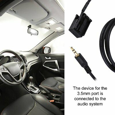 3.5MM Audio AUX IN Cable Line Adapter For OPEL CD30 MP3 1.5m Length KU