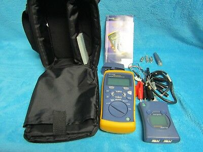 Fluke Networks CIQ-100 Cable Tester in great condition with case & accessories.