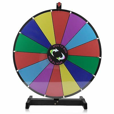 """24"""" Color Prize Wheel 14 Slots Dry Erase Trade Show Fortune Spinning Game UK SQ"""