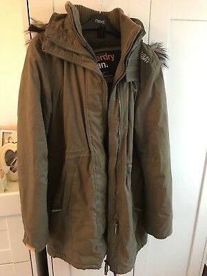 womens superdry windcheater jacket xl Parka Green