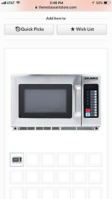 Solwave 1200W Stackable Commercial Microwave Large 1.2 cu ft with Push Button