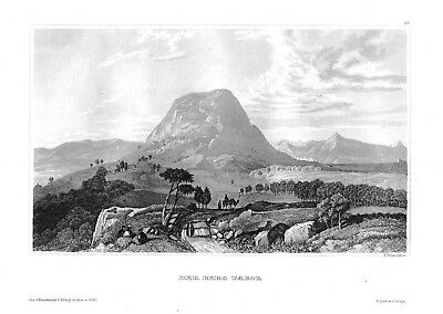 1840 - Berg Tabor Mount Tabor Nordisrael Israel Stahlstich engraving